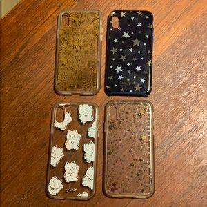 Apple IPhone X case bundle. Sonix/KateSpade